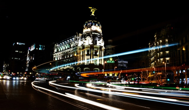 Madrid Accueil by night
